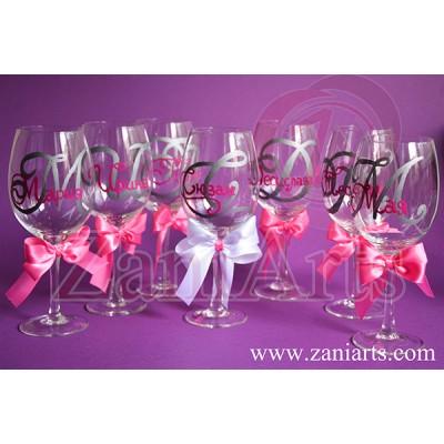 """Чаши за моминско парти """"Букви"""" - №954 (на брой)"""